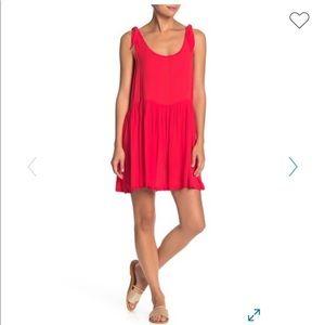 Red shirt dress. Size small